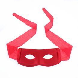 Wholesale Black Mask Zorro - Mardi Gras Masquerade Black Red Super Hero Eye Mask Zorro
