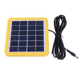 Panel solar policristalino 6v online-Sistema de cargador de energía solar con panel de células solares con cable de silicio policristalino de 6V 2W con cable de alimentación de 3 m para iluminación