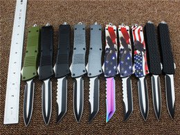 Wholesale Otf Blade Knife - high quality Micro otf troodon Scarab tactical knife 440C blade otf utility hunting camping gear infidel knife multitool wholesale