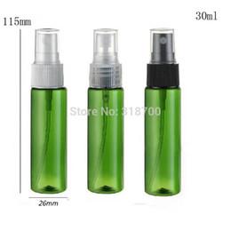 Wholesale Green Cosmetic Spray Bottles - Free shipping - 50 *30ml plastic perfume bottle, 1oz green half cover spray bottle,cosmetic packaging, cosmetic container