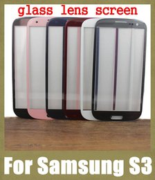 Wholesale Galaxy S3 Replacement Parts - samsung 3 s3 outer glass lens screen repair parts front smart phone cover screen replacement colorful free shipping SNP008