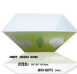 Wholesale Square Melamine - wholesale BSCI GSV sedex QS certifition Food Grade 100% melamine dinnerware Eco-fiendly square salad bowl