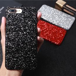 Canada Téléphone Cas Pour iPhone X 8 7 6 6 s Plus De Mode Or Bling Poudre Bling Siliver De Luxe Sparkle Strass Dur PC Couverture Cas Offre