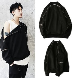 Wholesale Universe Ring - 17ss High Street OVERSIZE Universe ring zipper sweater men and women wild trend of the dark hedging sweater