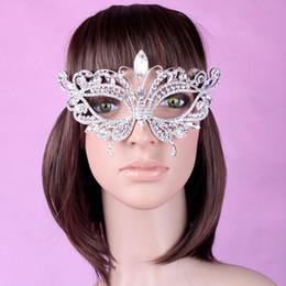 Wholesale Rhinestone Eye Mask - 2015 Hot Crystal Rhinestone Wedding Party Masks Half Face Masks Halloween Christmas Ball Film Photo Masquerade Mask Eye Blinder Patch