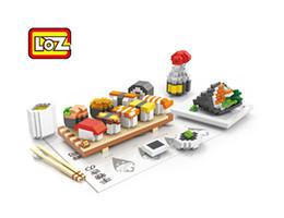 Wholesale Educational Chopstick - Sushi soy sauce chopstick Food Toys LOZ Educational Minifigures Block 3D Diamond Building Blocks ABS plastic Bricks Toy With Box