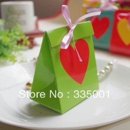 Wholesale Rainbow Wedding Favor Boxes - Wedding favor --Rainbow 6 color European creative wedding box personality wedding candy box 100pcs lot