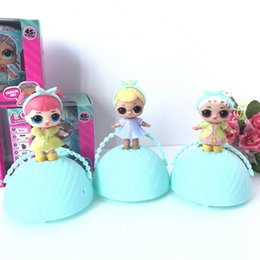 Wholesale Cartoon Baby Dresses - LOL Surprise Dolls with absorb and spray water's funtion Unpacking Dolls Dress Up Toys Baby Tear Egg Dolls Spray Kids Gift