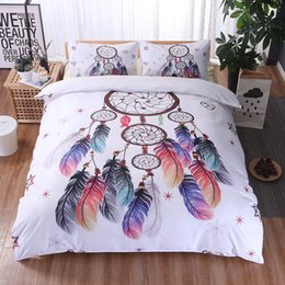 Wholesale Animal Pattern Duvet Covers - Sogala Christmas 3-Pieces Duvet Cover Set Printed Dreamcather Pattern Bedding Set Home Textiles Collection Twin Queen King Comferter Cover
