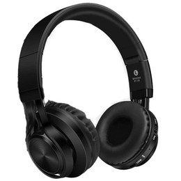 Wholesale Usb Computer Headsets - BT-06 Wireless Bluetooth Headset Foldable Headphone Adjustable Adjustable volume Unlimited plug - in The heavy bass computer is universal