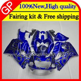Le scarpe blu di srad online-Corpo per SUZUKI SRAD GSXR 600 750 96 argentato blu GSXR750 96 97 98 99 00 20GP6 GSX-R600 GSXR600 1996 1997 1998 1999 2000 Carenatura del motociclo