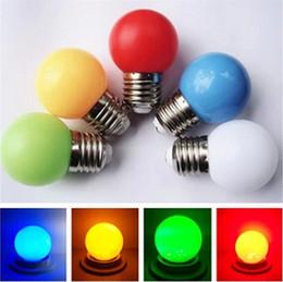 Wholesale E27 Led Lamp 1w - 100 PCS RGB Full Color 0.5W 1W 2W E27 B22 LED ball Bulb light Effect DJ globe Lamp Light bubble Bulb Stage Lighting Free Shipping