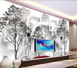 Wholesale Wood Space - Wallpaper mural wallpaper 3D space tree woods wallpaper mural wall sticker wallpaper papel de parede20151337
