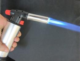 Spedizione gratuita Chef Blowtorch Jet Flame Torch Cucina Cottura Saldatura Brasatura Butano Torcia Dab Jet Accendino Micro Blow Torch da gas di cottura a gas di combustione fornitori