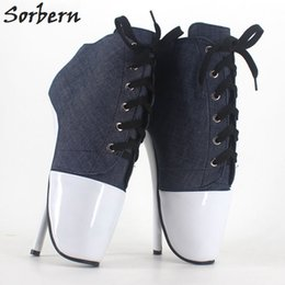 Wholesale Cheap Large Size Shoes - 18 Cm High-Heeled Sexy Ballet Shoes Pumps Bdsm Large Size Sexy High Heels Like Shoes Jeans Sapato Feminino Fetish Shoes Women Cheap Sexy