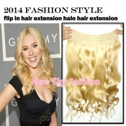 Wholesale Deep Wave 28inch - 120g pc length 20-28inch thickness hair all colors brazilian remy hair halo extension flip in hair extensions