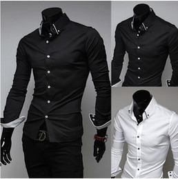 Wholesale Import Shirt - free shipping New Arrival Top Quality Brand Mens Imported Clothing mens Dress Shirts Men Striped lining Silk Long sleeve Shirts
