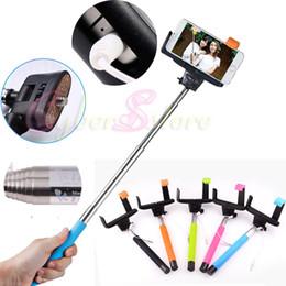 Selfie Stick Handheld L estilo titular Groove Desigh Anti-rotación antideslizante Shutter Cable Monopod telescópica control remoto