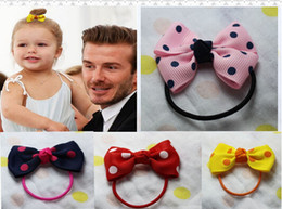 Wholesale Cheap New Babies Accessories - 10% OFF 2015 NEW ARRIVAL! 50PCS,2.5 INCH MINI Girls Baby Toddlers Kids Bow Ribbon bowknot Cute Princess Hair Ponytail hair Accessories CHEAP