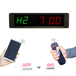 "Wholesale Led Timers Clocks - [Ganxin]1"" Programmable Promotion Fashion Led Crossfit Exercise Timer Training Rest Time Alternate Led GYM Clock"