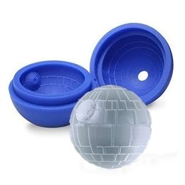 Wholesale Round Ice Cube Trays - Round ball Ice Mold   Silicone Ice Cube Tray Mold Maker Silicone Wars Round Ball Ice Cube Mold Tray War Mould DIY
