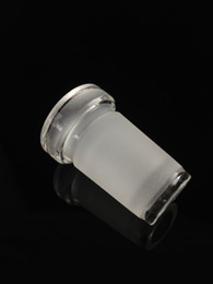 Wholesale Glass Bongs Wholesale - Low Pfofile Adapter 18mm male to 14 female and 10-14 connector on 18.8mm ground joint glass adapter for Glass WaterPipes Glass Bong