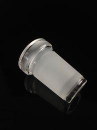 18,8 стеклянный адаптер онлайн-Низкая Pfofile адаптер 18мм мужской женский 14 и 10-14 разъем на 18.8 мм шлиф стеклянный адаптер