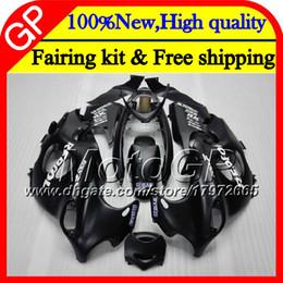 kit de carénage gold yzf r1 Promotion Corps pour SUZUKI KATANA GSXF 600 750 GSXF600 98 99 00 00 01 02 21GP9 GSX600F GSXF750 noir mat 1998 1998 1999 2000 2001 2002 Carénage de moto