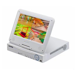 Canada Système de sécurité de surveillance tout-en-un 4CH H.264 AHD DVR avec écran LCD blanc de 10 pouces Offre