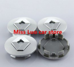 Wholesale Wholesale Hub Covers - 4pcs lot Free shipping 57mm Renault car emblem Wheel Center Hub Caps Dust-proof Badge logo covers car styling