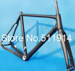 Wholesale Carbon Road Frame Matt - Wholesale-FR-602 Full Carbon 3K Matt Cyclocross cross Bike Frame ( BSA) + Fork + Headset 51cm, 53cm, 55cm, 57cm