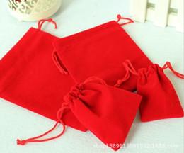 оптовый стойку Скидка Mix цвет 10x12cm Красный бархат сумка свадебный подарок мешок Drawstring ювелирные изделия упаковка Рождественский подарок мешок 100 шт. / лот