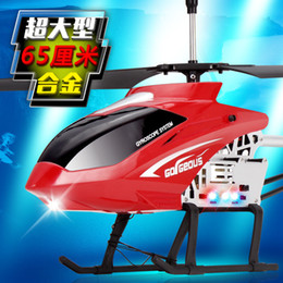 Wholesale Large Helicopter Remote Control - Wholesale-65 cm large remote control aircraft alloy falling resistance model aviation manufacturers selling children's toy helicopter