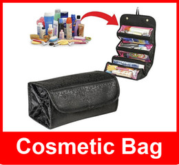 Wholesale Rolling Travel Cosmetic Bag - Roll -N -Go Lady's Travel Large Capacity Multi Functional Organizer Cosmetic Bags Jewelry Storage Make Up Bag