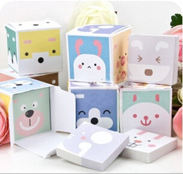 Wholesale Note Stickers - Animal Cube boxed style Scratchpad notebook   scratchpad self adhesive sticker  memo pad  N times stickers