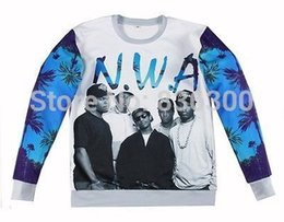 Wholesale Hip Hop Clothing Free Shipping - New fashion hip hop hoodies Women Men Hot star N.W.A Niggaz Wit Attitudes Print 3d sweatshirts street wear clothes Free shipping