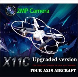 Wholesale Mini Sd 2g - RC Drone With HD Camera Syma X11C Helicopter Quadcopter 2.4G 6 Axis GYRO RTF with 2.0MP Camera 2G Mini SD Card hight quality Free shipping