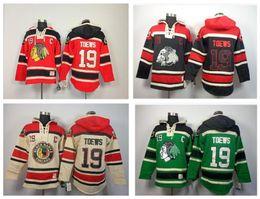 Wholesale Hawk Jerseys - 30 Teams-Wholesale Best Quality NHL Jersey Shirt Black Hawk Team TOEW 19 # Ice Hockey With Hood Fleece Free Shipping
