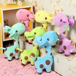Wholesale Baby Dear Dolls - 1 X Cute Gift Plush Giraffe Soft Toy Animal Dear Doll Baby Kid Child Birthday Happy Colorful