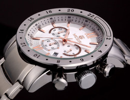 Wholesale hour hand men - MEGIR Men Watches Top Brand Luxury Watches Military Chronograph 6 Hands 24 Hours Men Stainless steel Watches Relogio Masculino