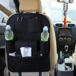 Wholesale organizer hanger - Auto Car Storage Bag Seat Multi Pocket Travel Storage Hanger Car Styling Back Seat Cover Organizer Holder Backseat