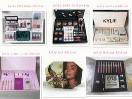 Wholesale Color Gift Boxes - Newest vacation edition bundle Kylie Christmas Collection Set Naughty & Nice Holiday Big Box I WANT IT ALL The Birthday Collection Gift