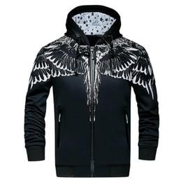 Wholesale Polka Dot Hoodies - Wings printing Hooded Hole Twill Hoodies Men Hip Hop Swag Streetwear Men Hoodie Famous Brand Men Sport Suit Sweatshirts