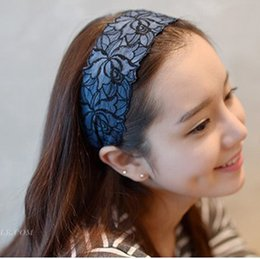 Wholesale Embroidered Hair Clip - Korean pop jewelry upscale hair jewelry hairpin lace headband embroidered cloth wide headband