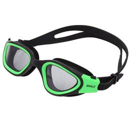Wholesale Swimming Mirror - Swimming Goggles Polarized Swim Goggles with Mirror Smoke Lens UV Protection Watertight Anti-fog Adjustable Strap Comfort fit Adult Eyewear