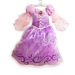 Wholesale Dress For Girl S - 2015 New Style Kids Princess Sofia Dress Costume Vestido Disfraz Children Purple Princess Sofia Dresses For Girls