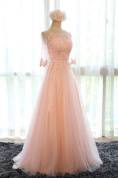 Wholesale Womens Evening Formal Prom - Womens Sexy Applique Long Chiffon Bridesmaid Formal Party Evening dress Ball Gown Prom Dresses