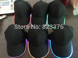 Wholesale Baseball Caps Led Lights - DHL Freeshipping 20pcs Baseball Caps with Led Lights Led Baseball Caps with adjustable fastening
