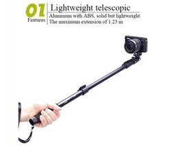 Wholesale Iphone Gopro - wholse Top Quality YunTeng 188 Portable Handheld Telescopic Monopod Tripod For iphone gopro Cameras Cell Phones With Holder