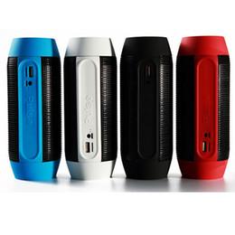 Wholesale Tablet Speaker For Ipad - DHL free ship pulse mini digital speaker LED light bluetooth wireless audio subwoofer for tablet iphone samsung LG ipad black red OTH012